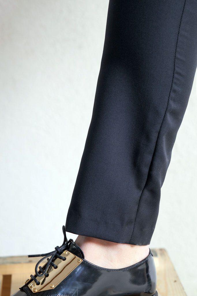pantalon cigarette noir