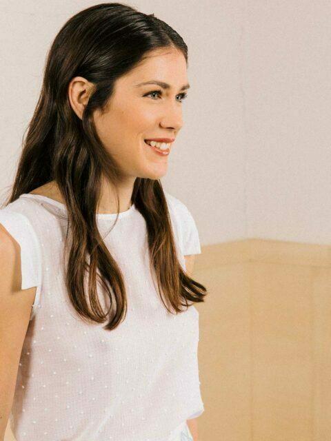 blouse plumetis blanche