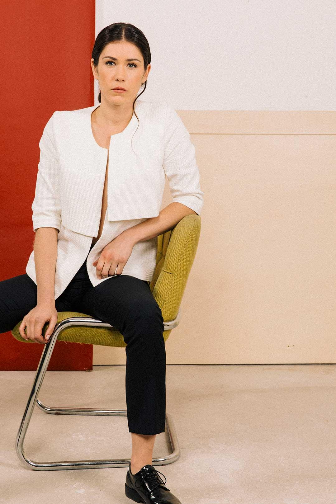 veste faustinebl atode atode vetement femme chic classe et co responsable made in france. Black Bedroom Furniture Sets. Home Design Ideas