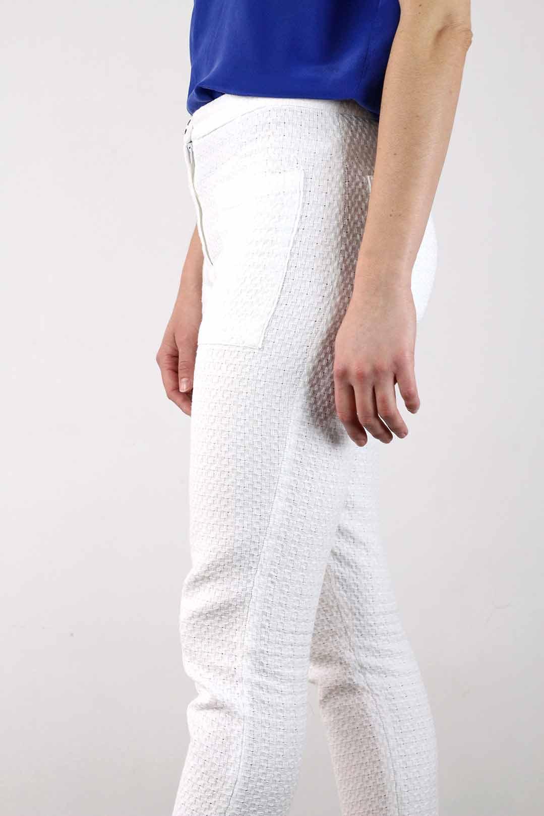 Pantalon blanc 7/8 femme