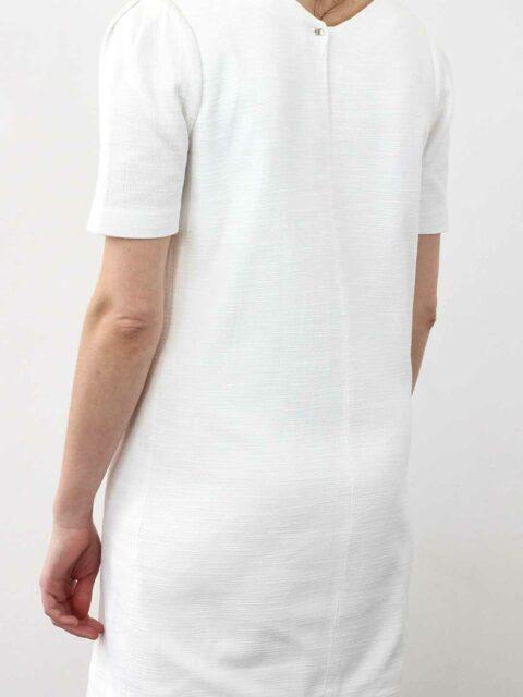 Robe droite blanche