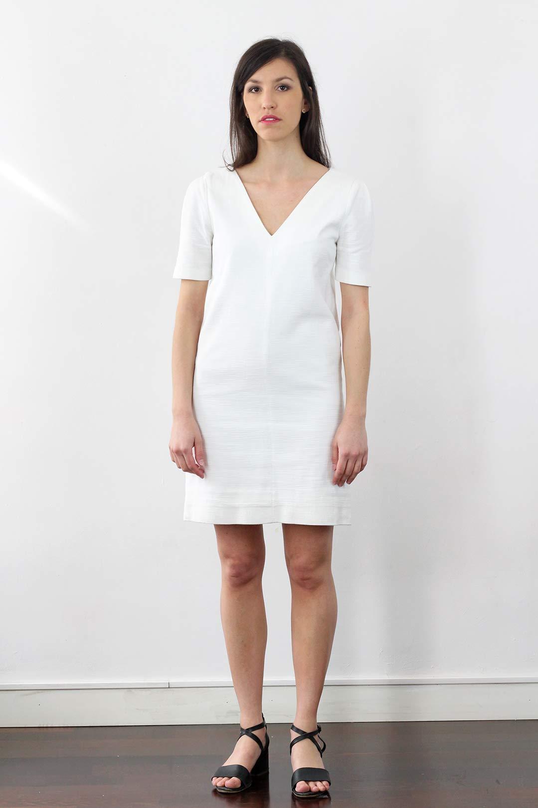 plus récent 851ba 59a08 Robe blanche manche 3/4 en coton - Eloïse