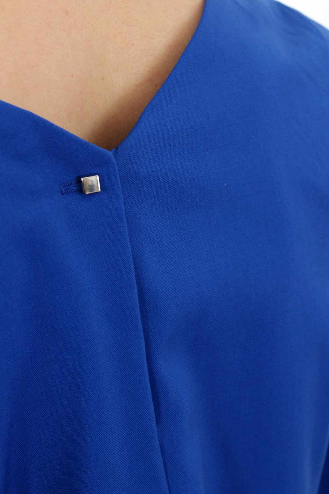 Robe droite bleu roi 4