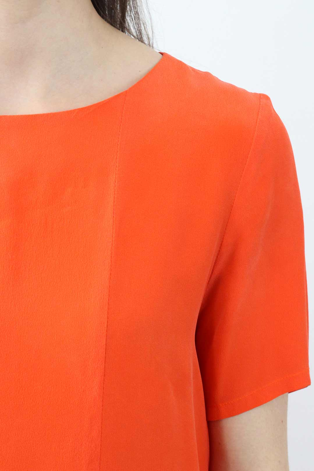 Robe en soie orange 1