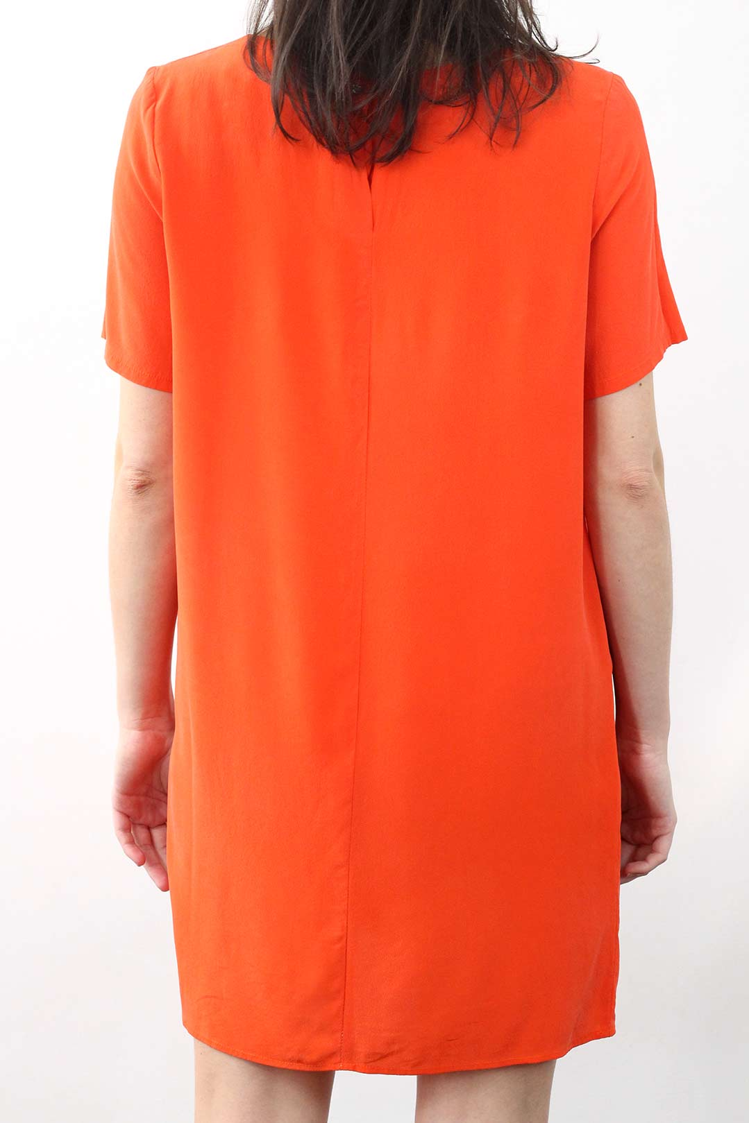 Robe en soie orange 2