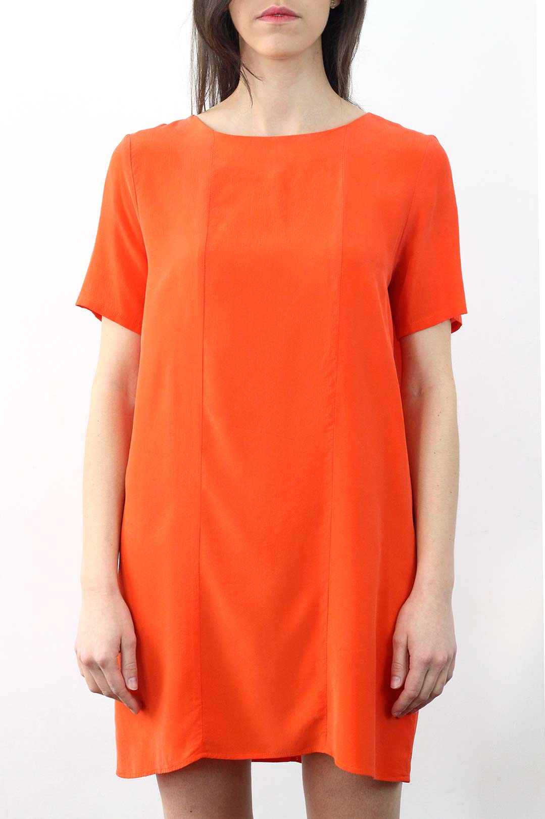Robe en soie orange 4