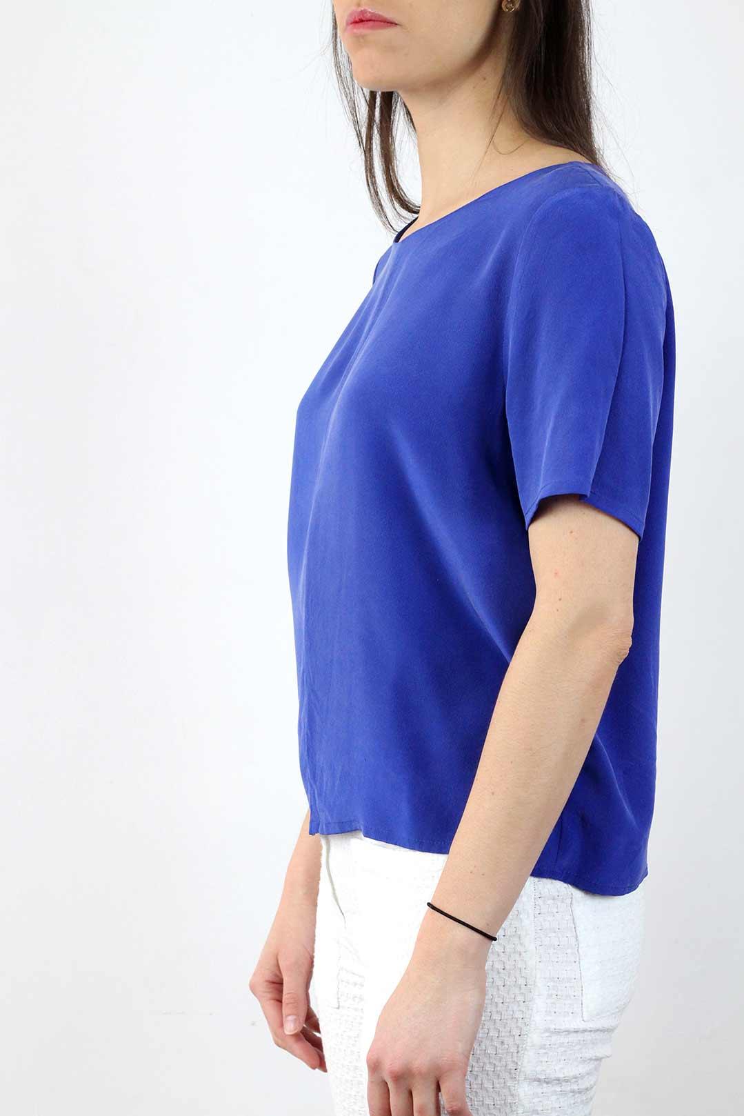 Top soie bleu 1