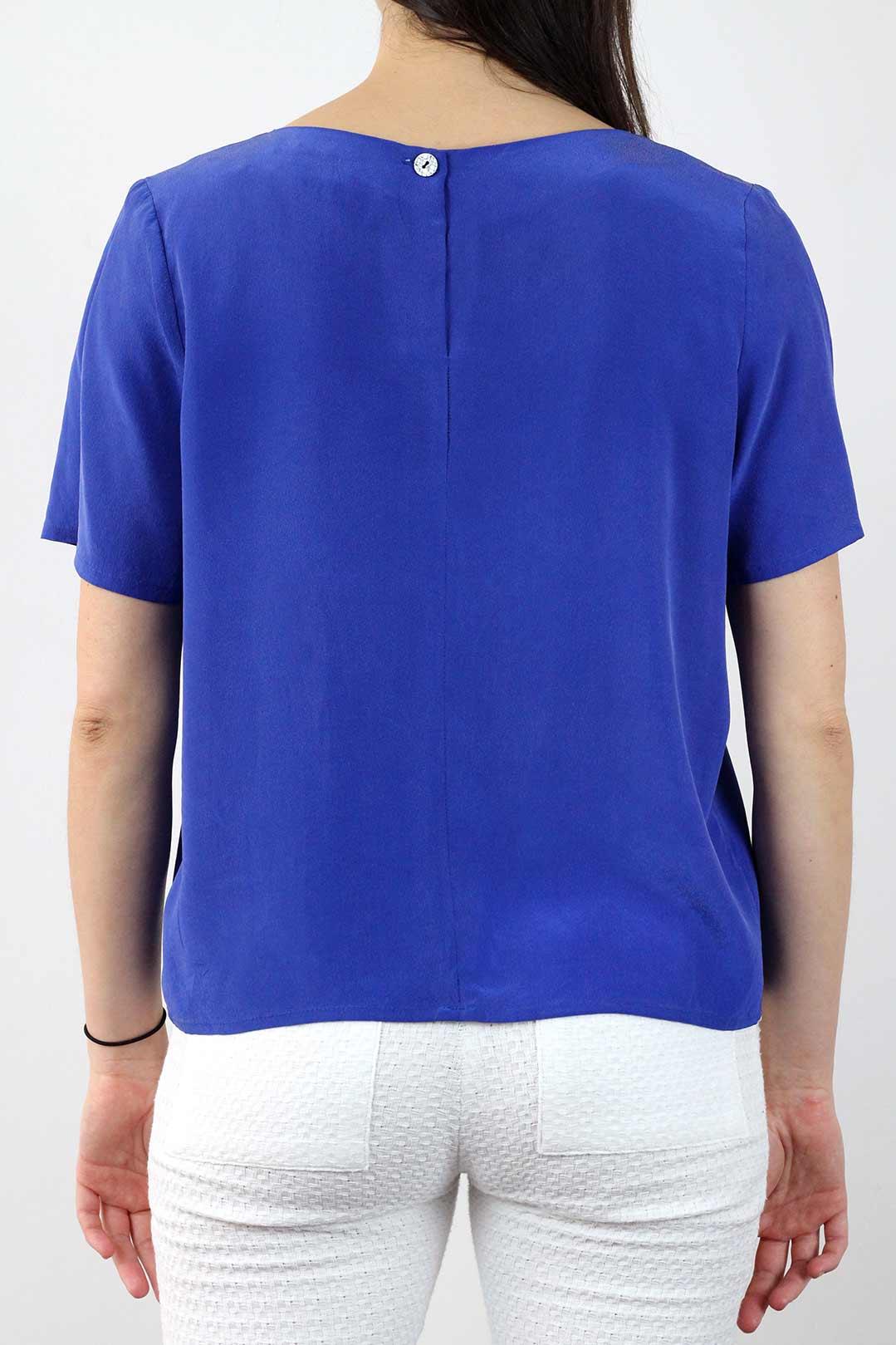 Top soie bleu 2