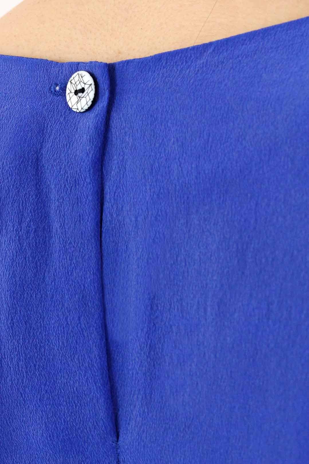 Top soie bleu 3
