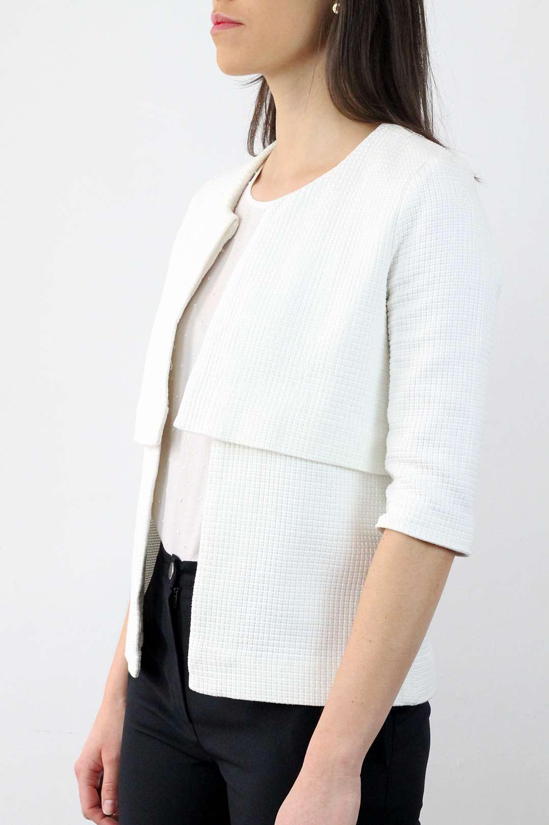 Veste Coton blanche femme 2