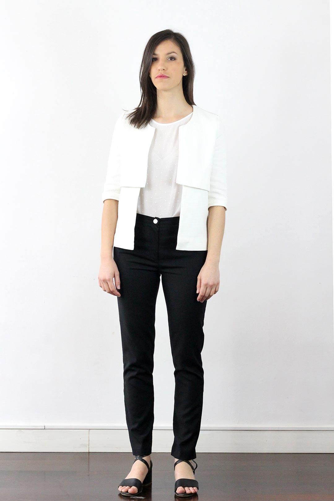 Veste Coton blanche femme