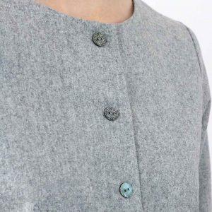 gilet en laine gris femme