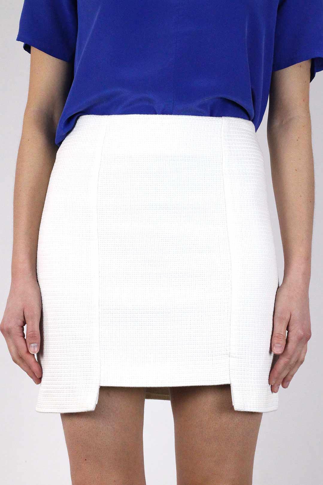 jupe droite blanche