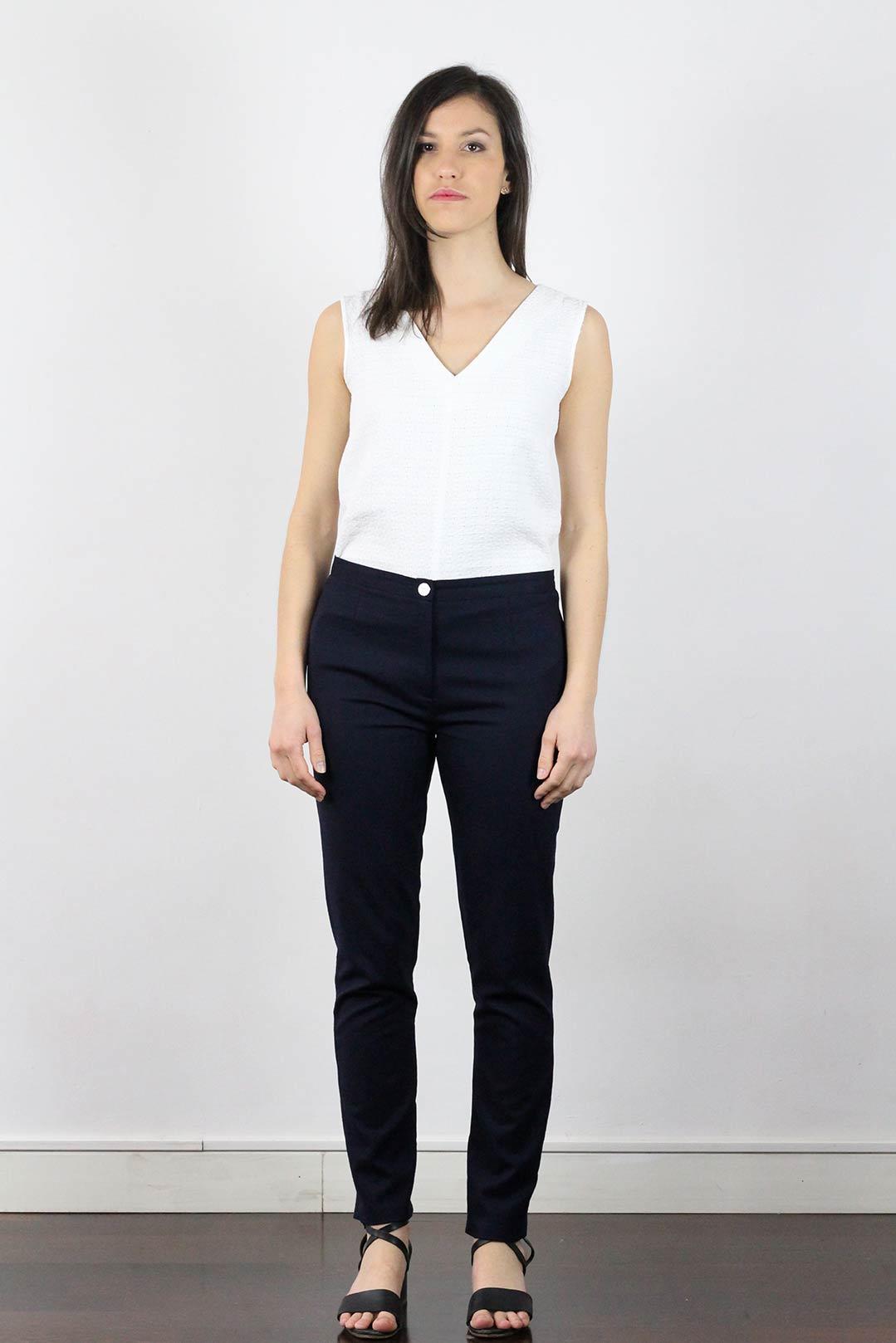 pantalon tailleur femme bleu marine laine flanelle made in france. Black Bedroom Furniture Sets. Home Design Ideas