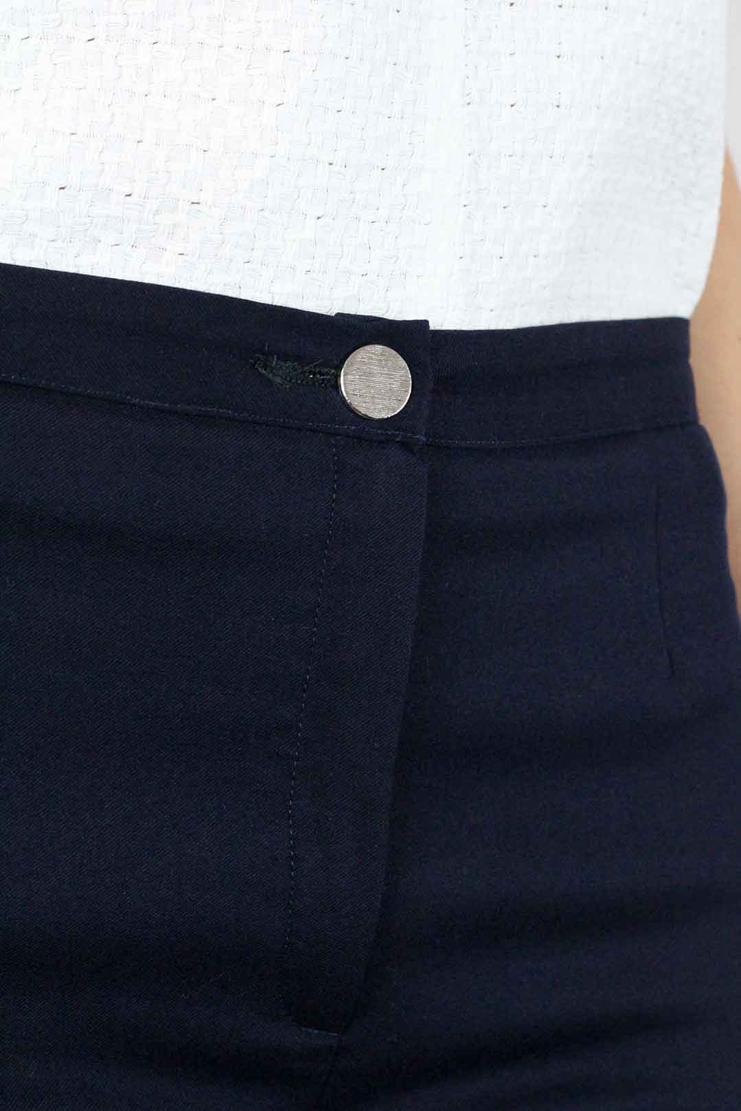 pantalon tailleur femme bleu marine 4