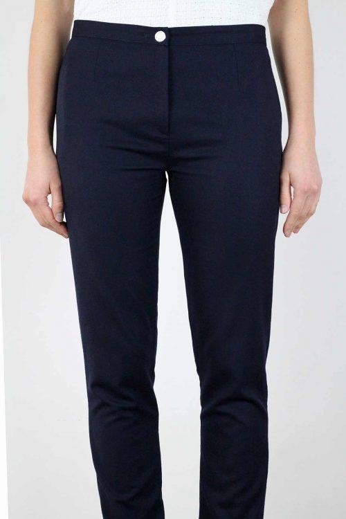 pantalon tailleur femme bleu marine
