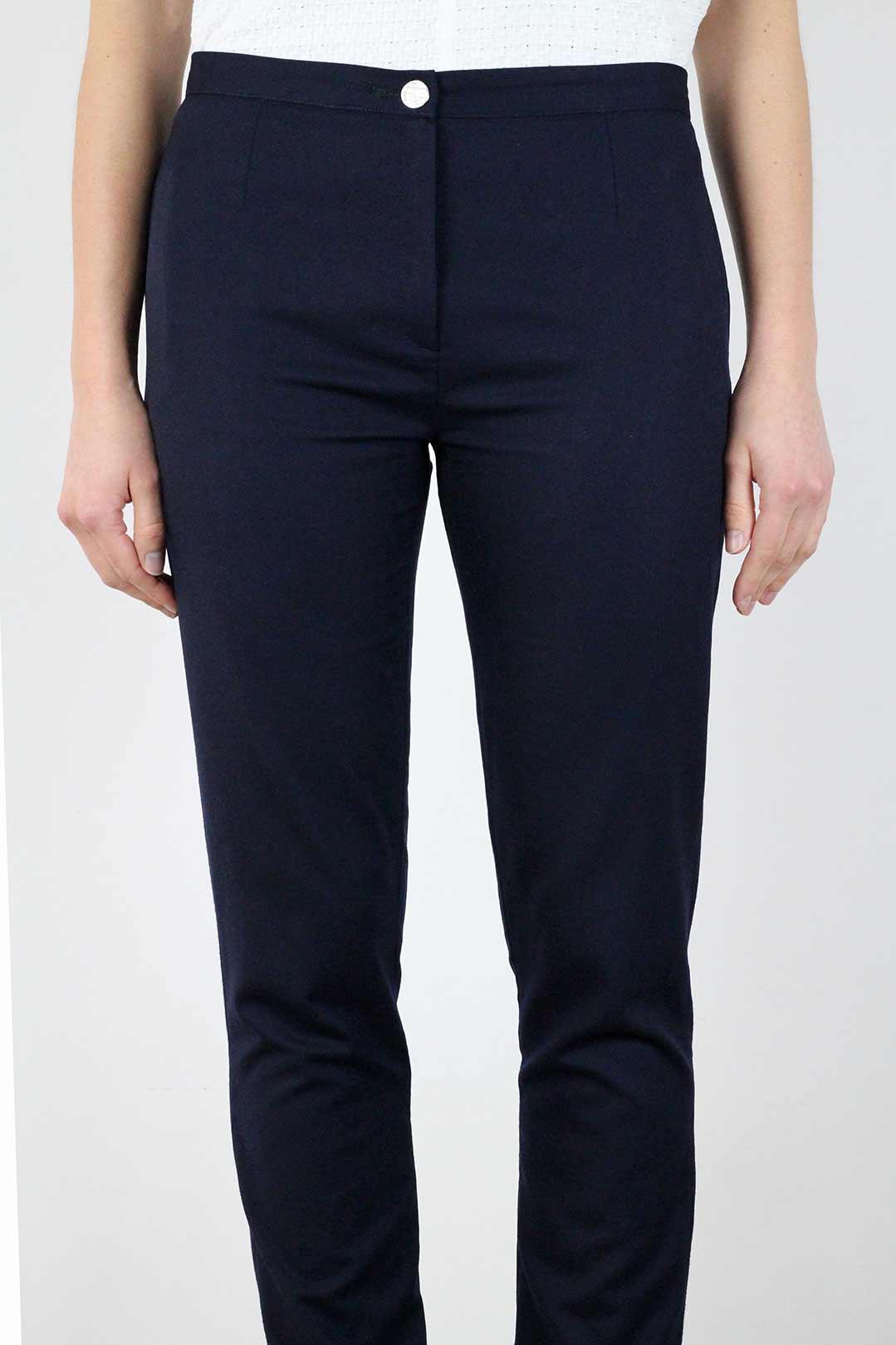 4a44b799d07b Pantalon bleu marine femme, droit, en laine Made in France   ATODE