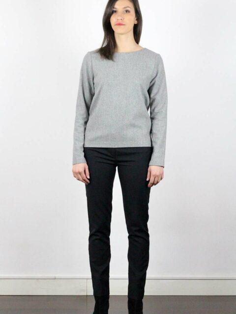 pull en laine gris femme