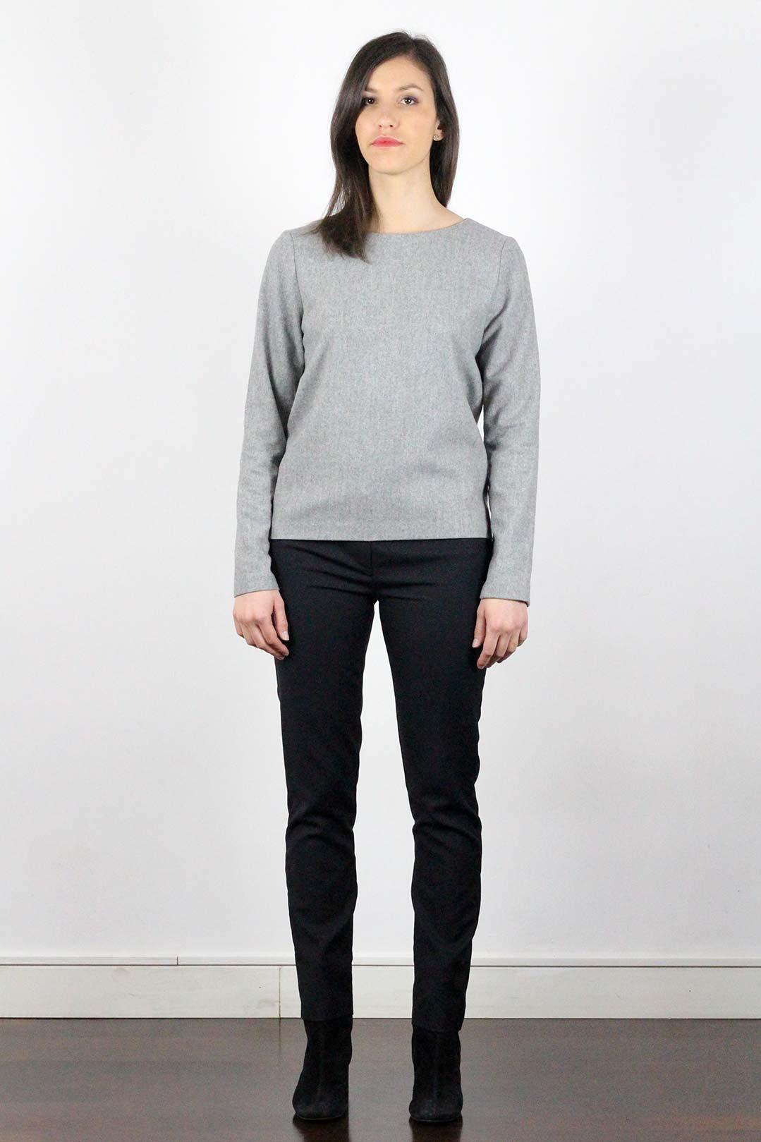 pull en laine gris femme flanelle 120 39 s atode made in france. Black Bedroom Furniture Sets. Home Design Ideas