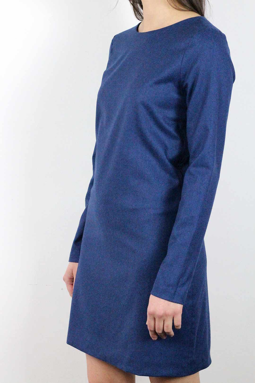 robe bleue manches longues