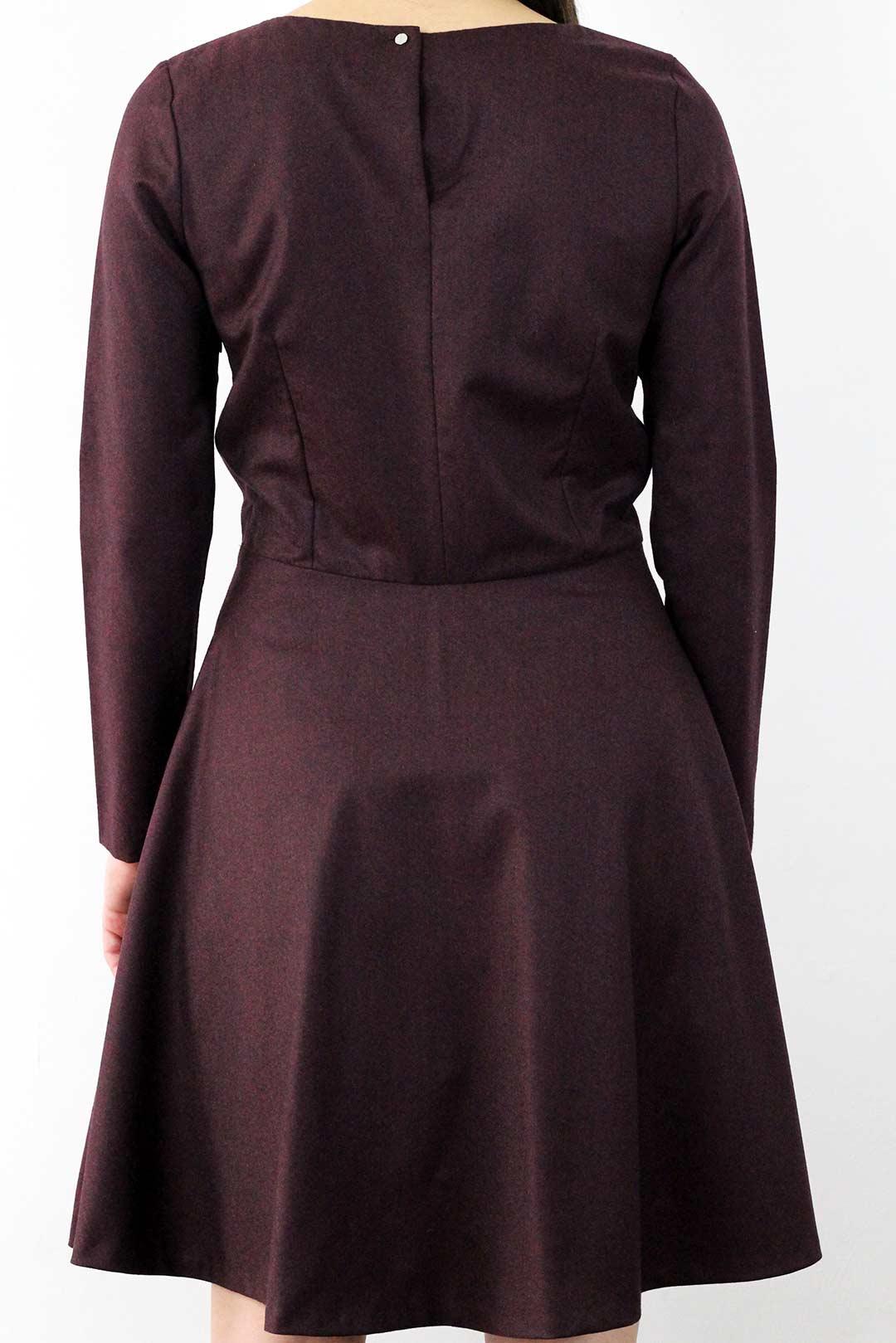 robe en laine bordeaux