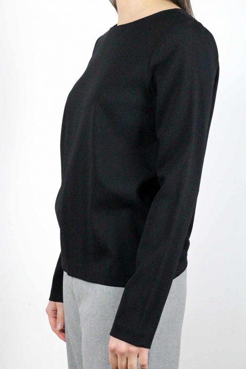 top noir manche longue femme