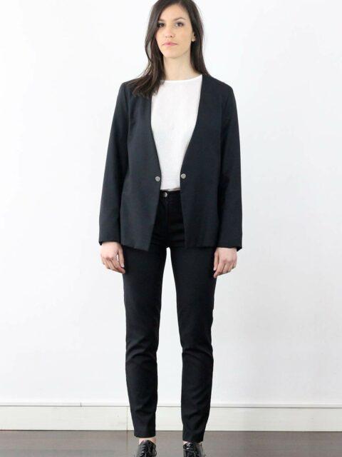 veste de tailleur noire femme