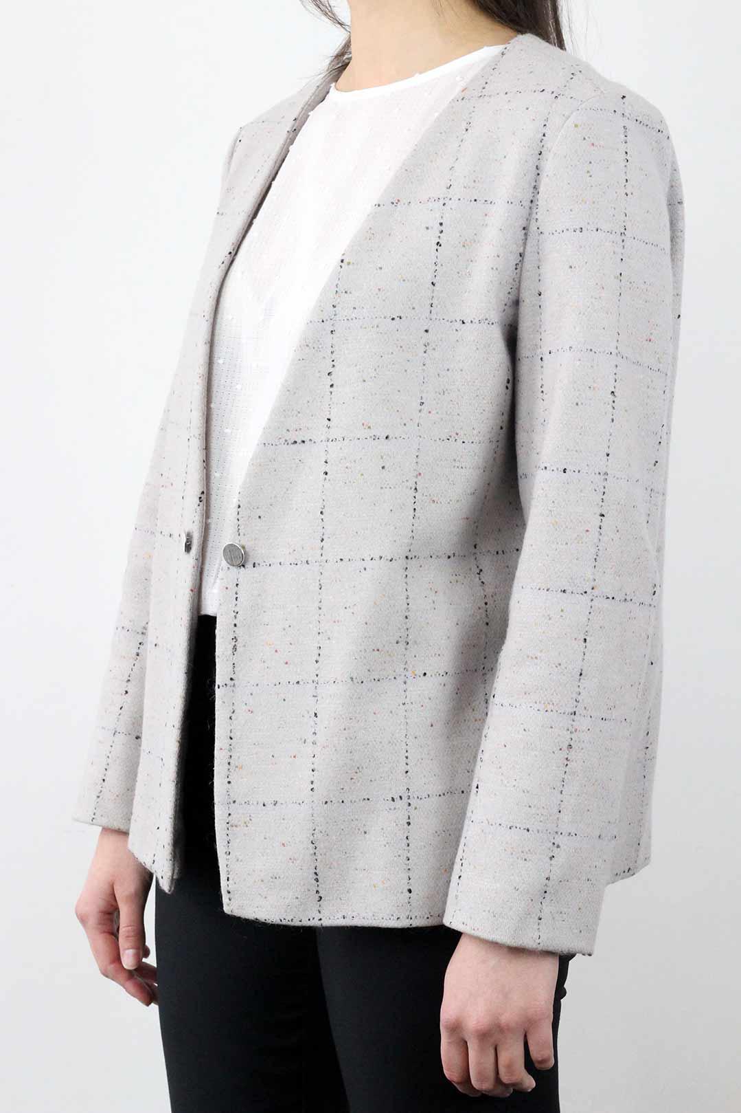 veste grise laine femme