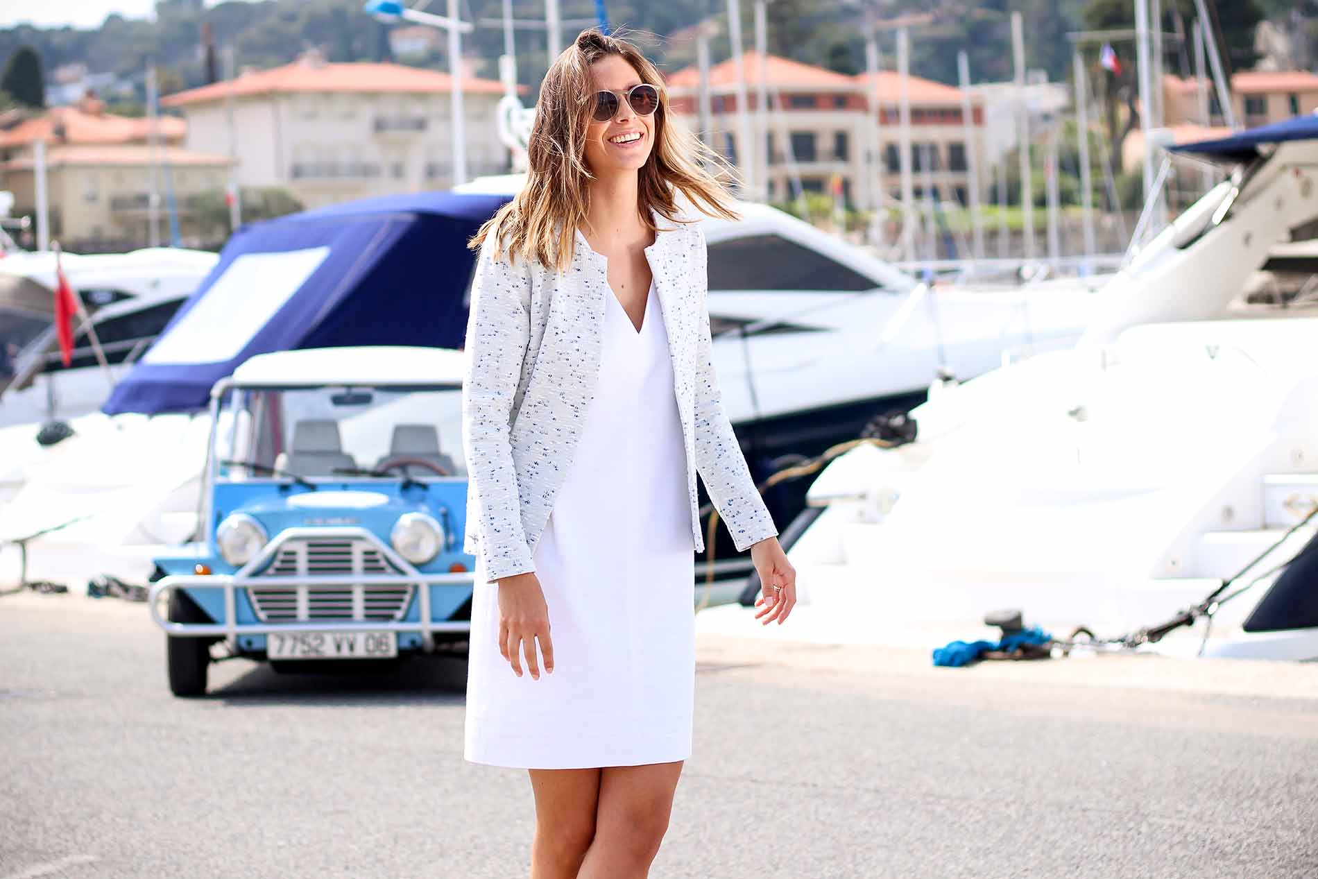 robe blanche en coton