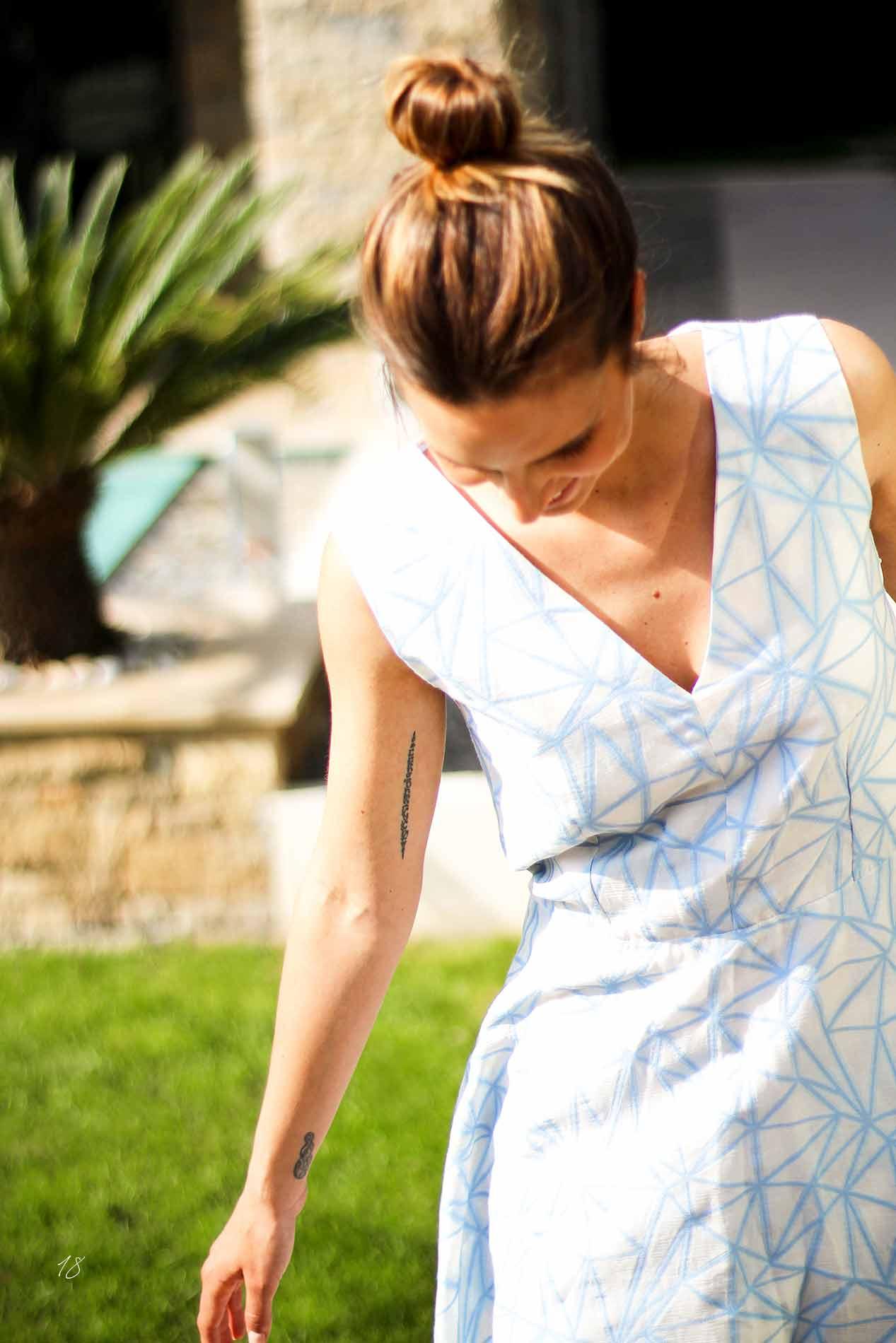 robe patineuse bleu ciel