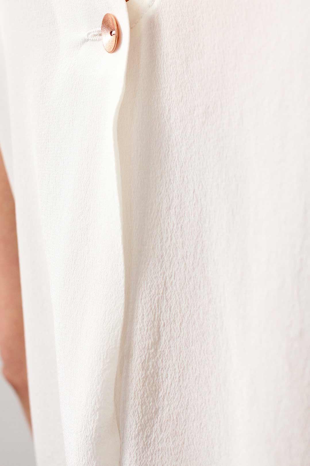 Top en soie blanc 3