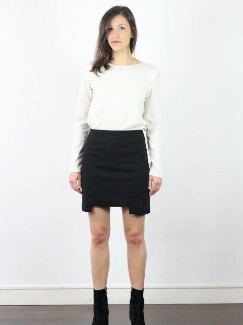 jupe crepe noire