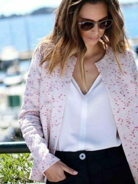veste couture rouge
