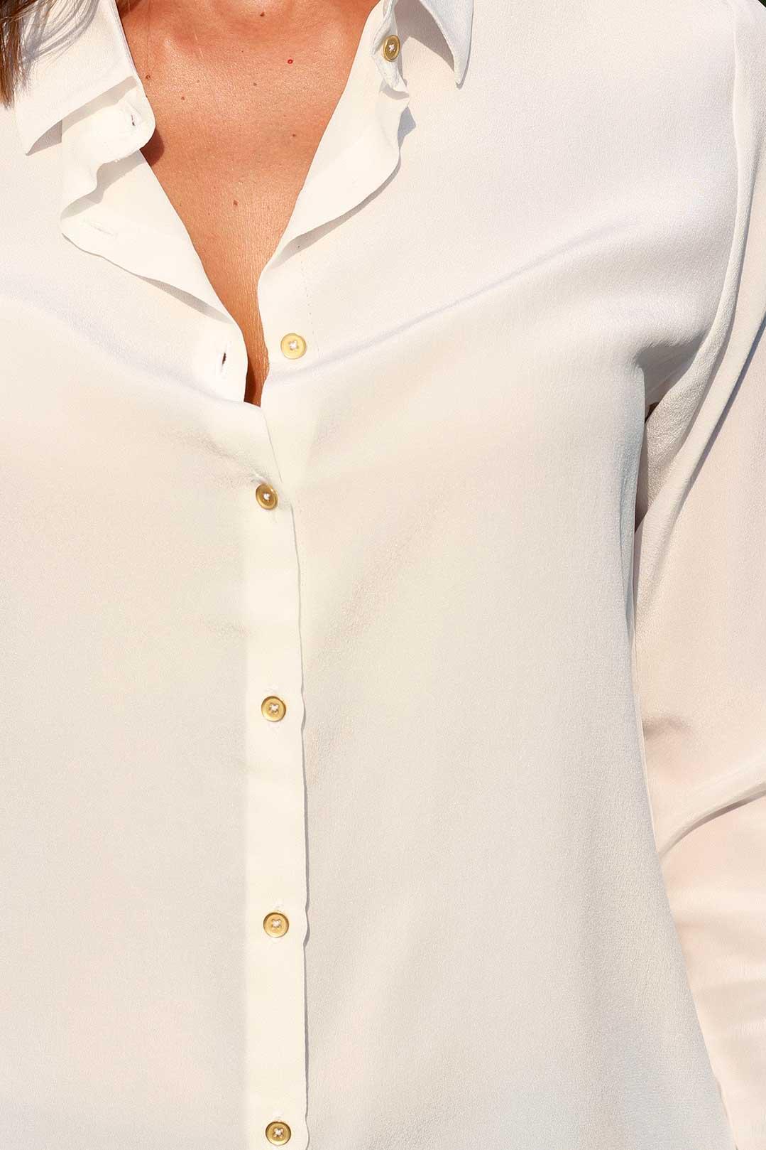 chemise en soie lavée