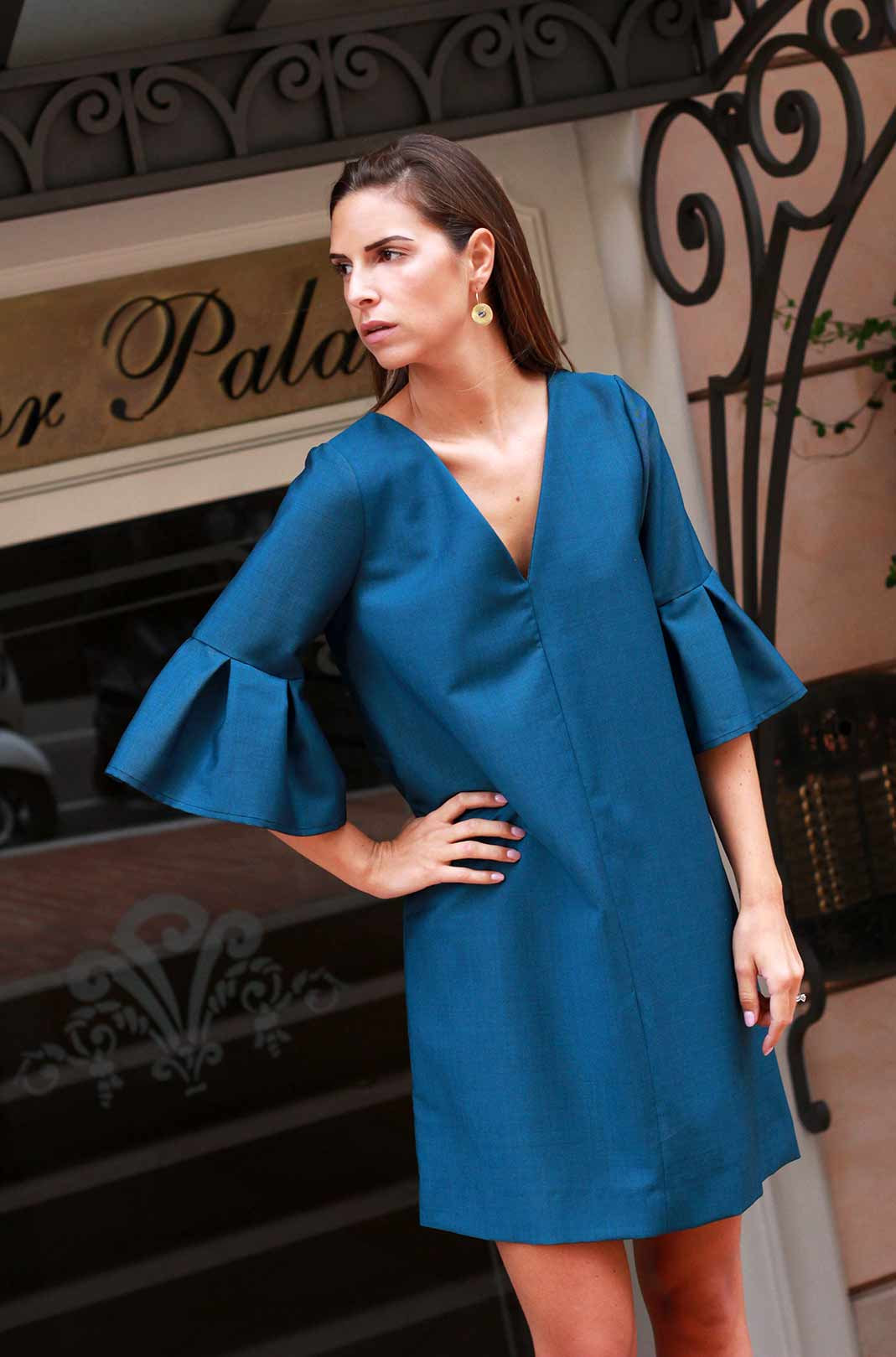 6c62760c3b1c ATODE - Robe en laine chic et Made in France - flanelle