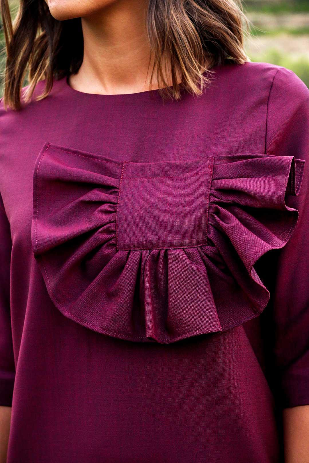 robe longue bordeaux