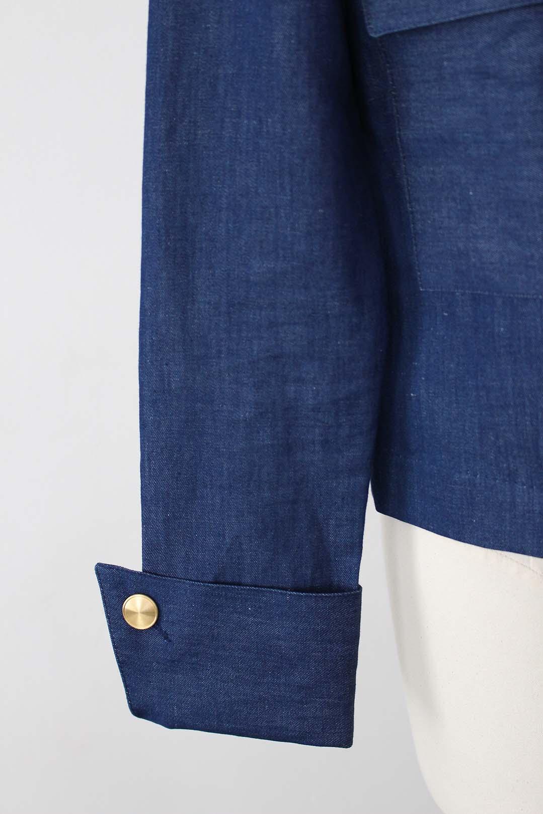 VESTE COURTE bleu jean
