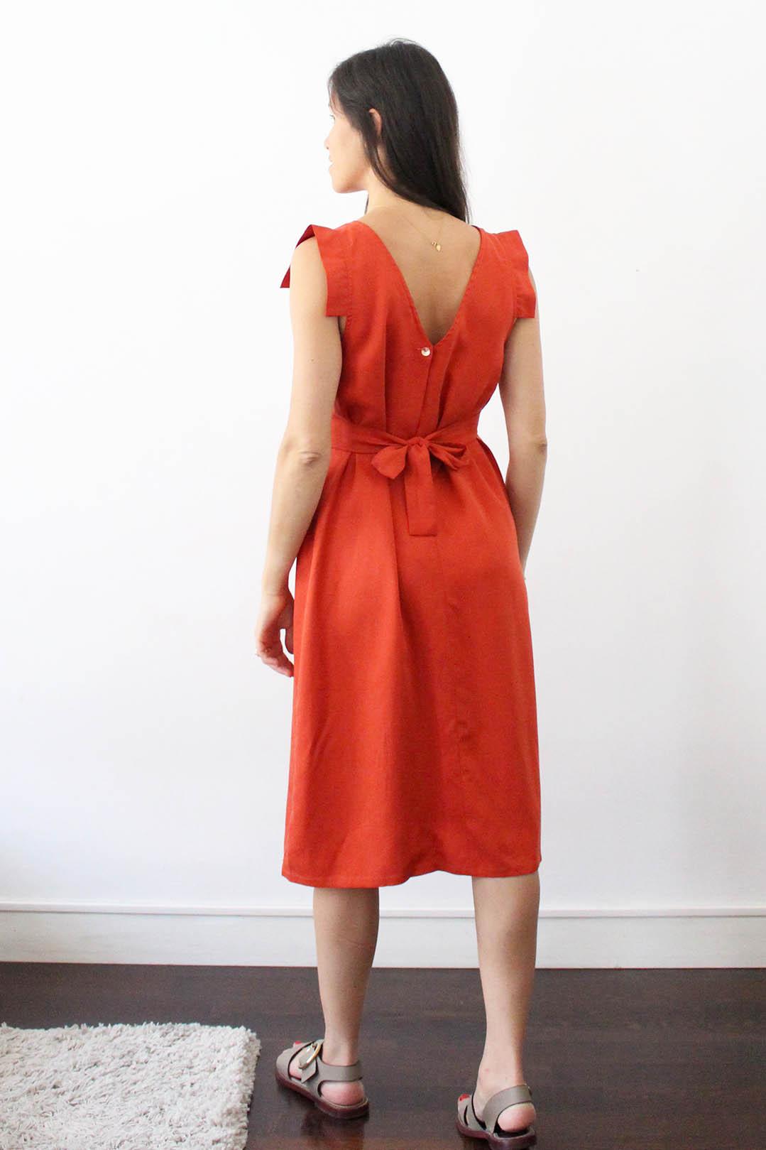 robe rouille mi longue 2