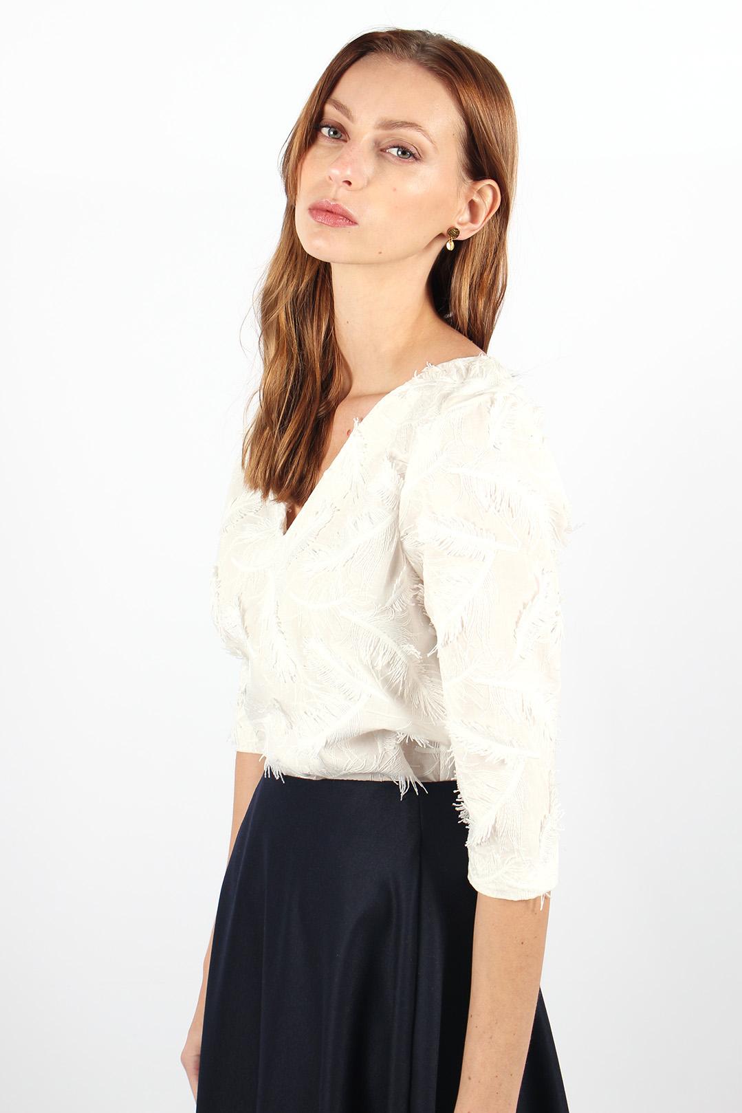 top elodie blanc en coton