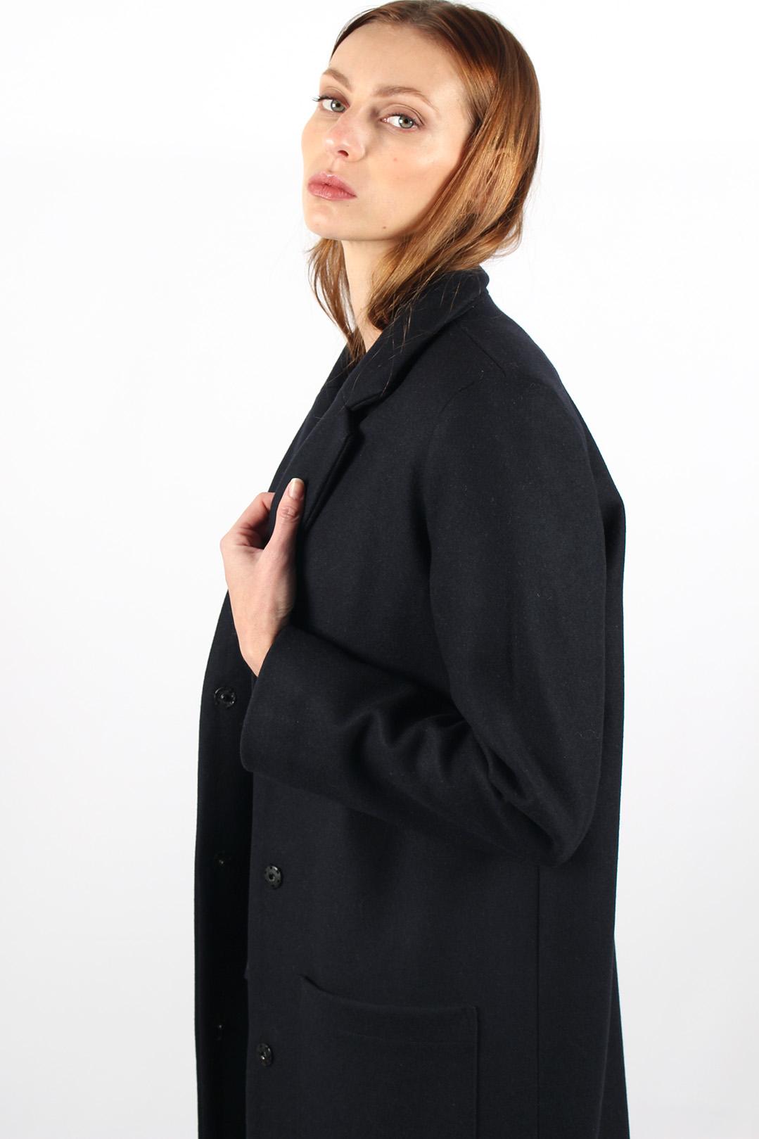 manteau droit femme bleu marine10