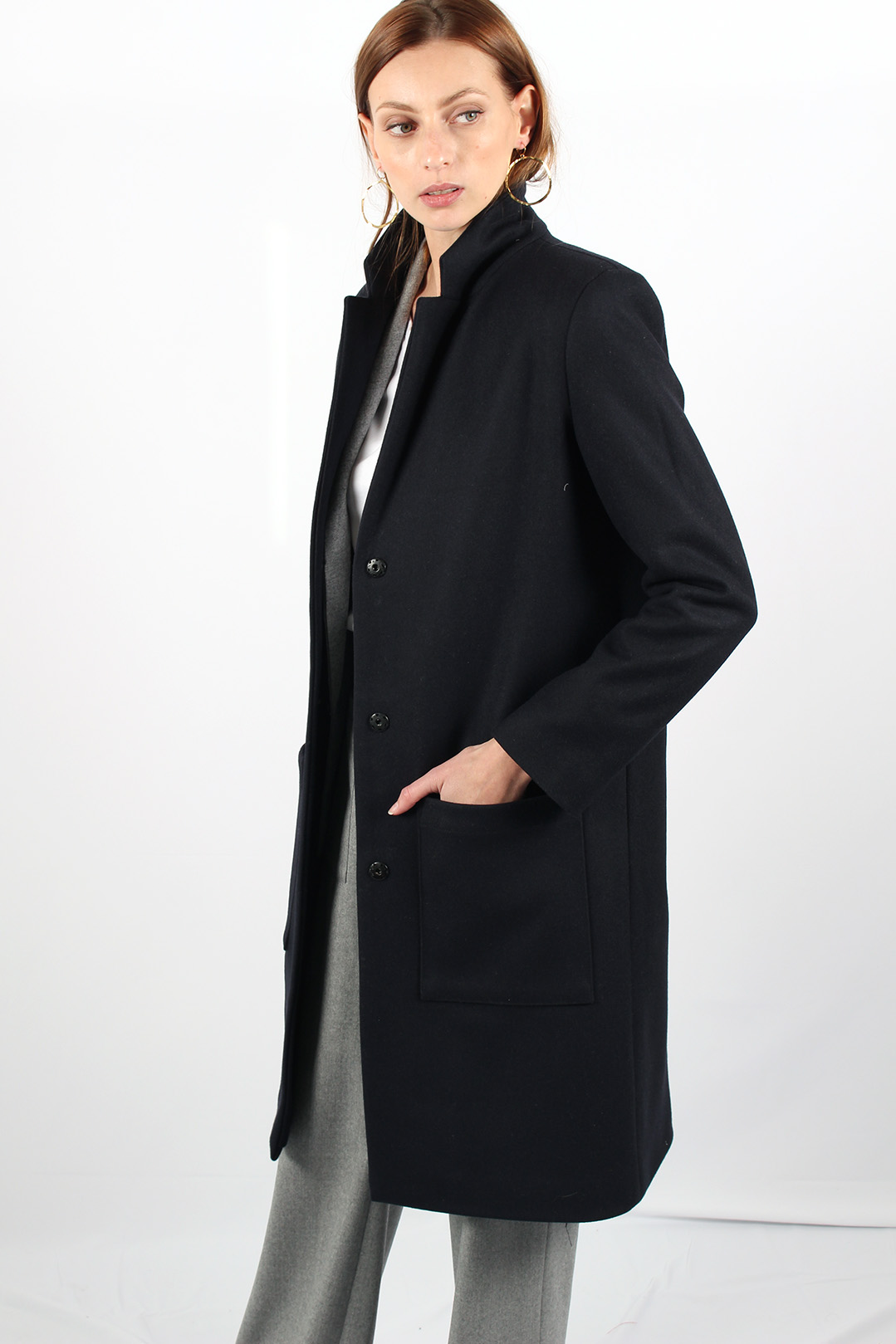 manteau droit femme bleu marine14