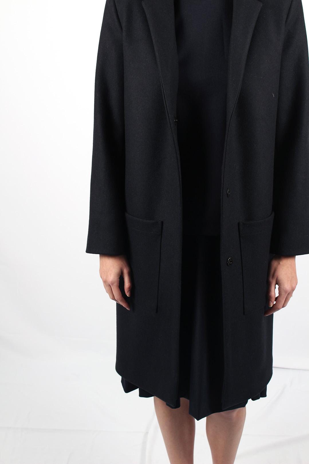 manteau droit femme bleu marine8