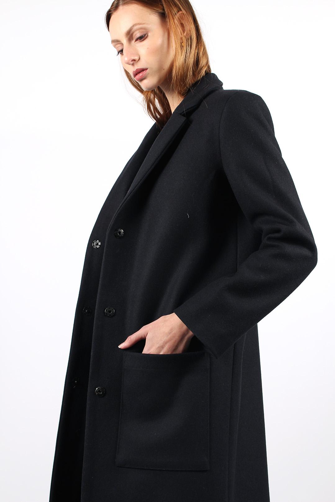 manteau droit femme bleu marine9
