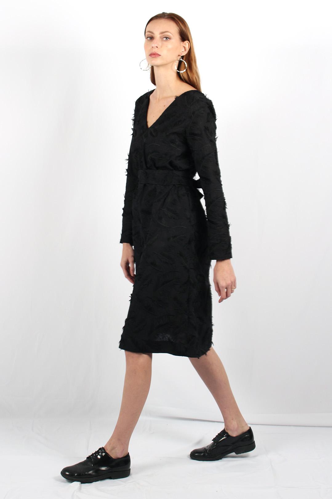 robe droite noire en coton