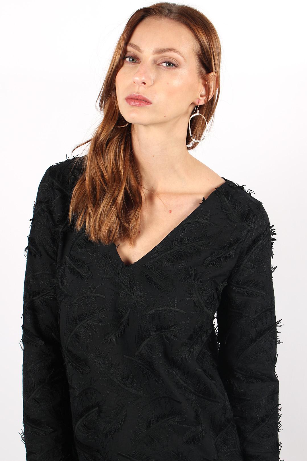 robe droite noire en coton6