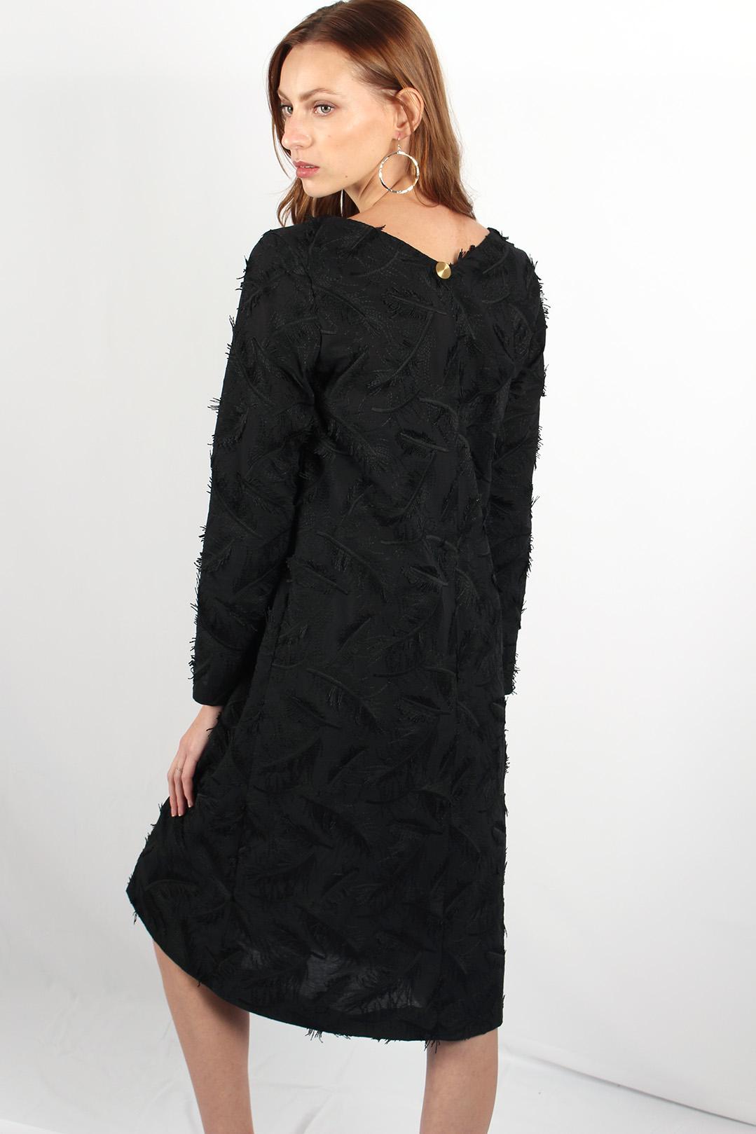robe droite noire en coton7