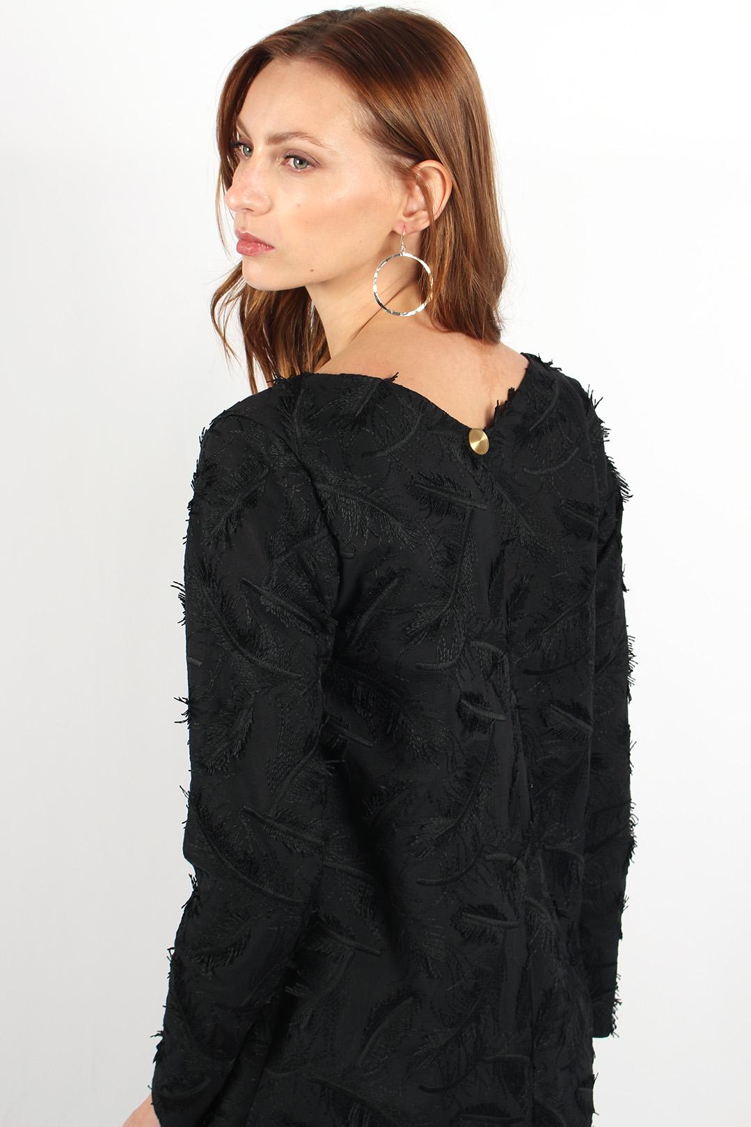 robe droite noire en coton8