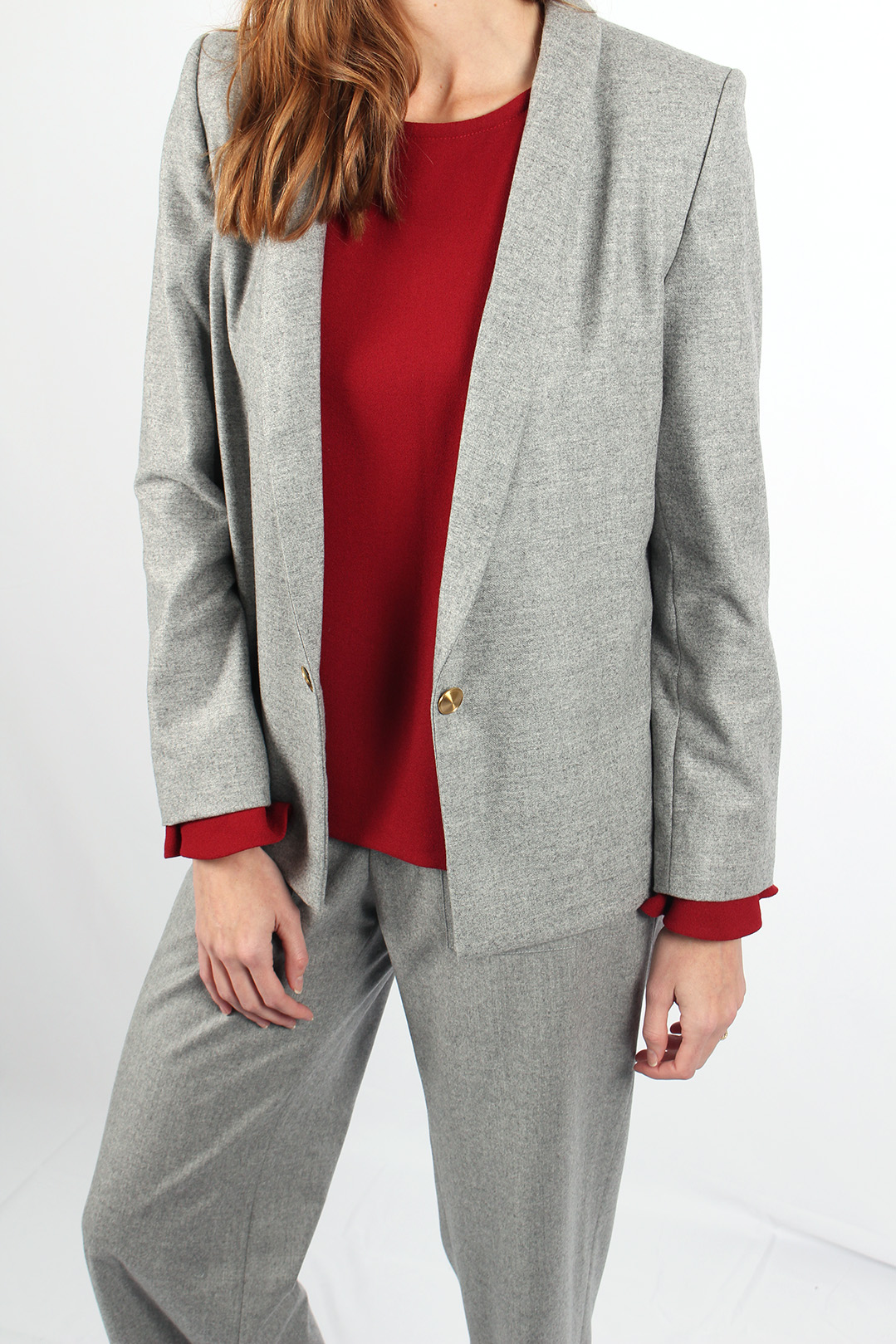 veste tailleur grise 8