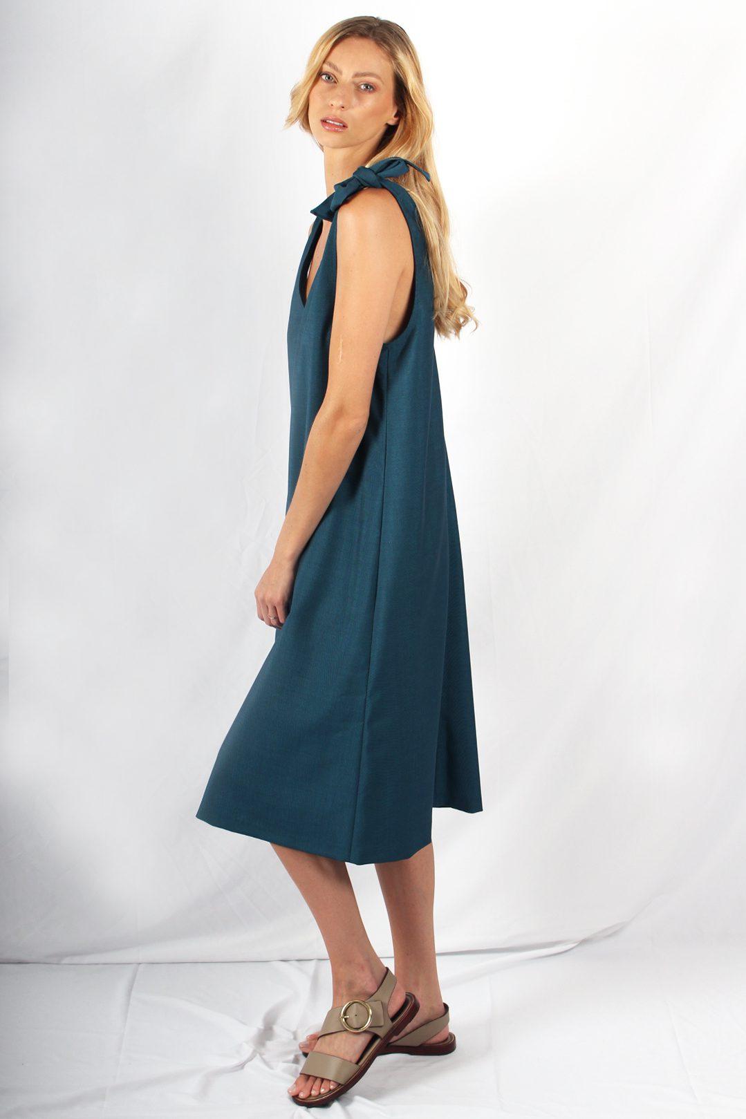 robe longue bleu canard2