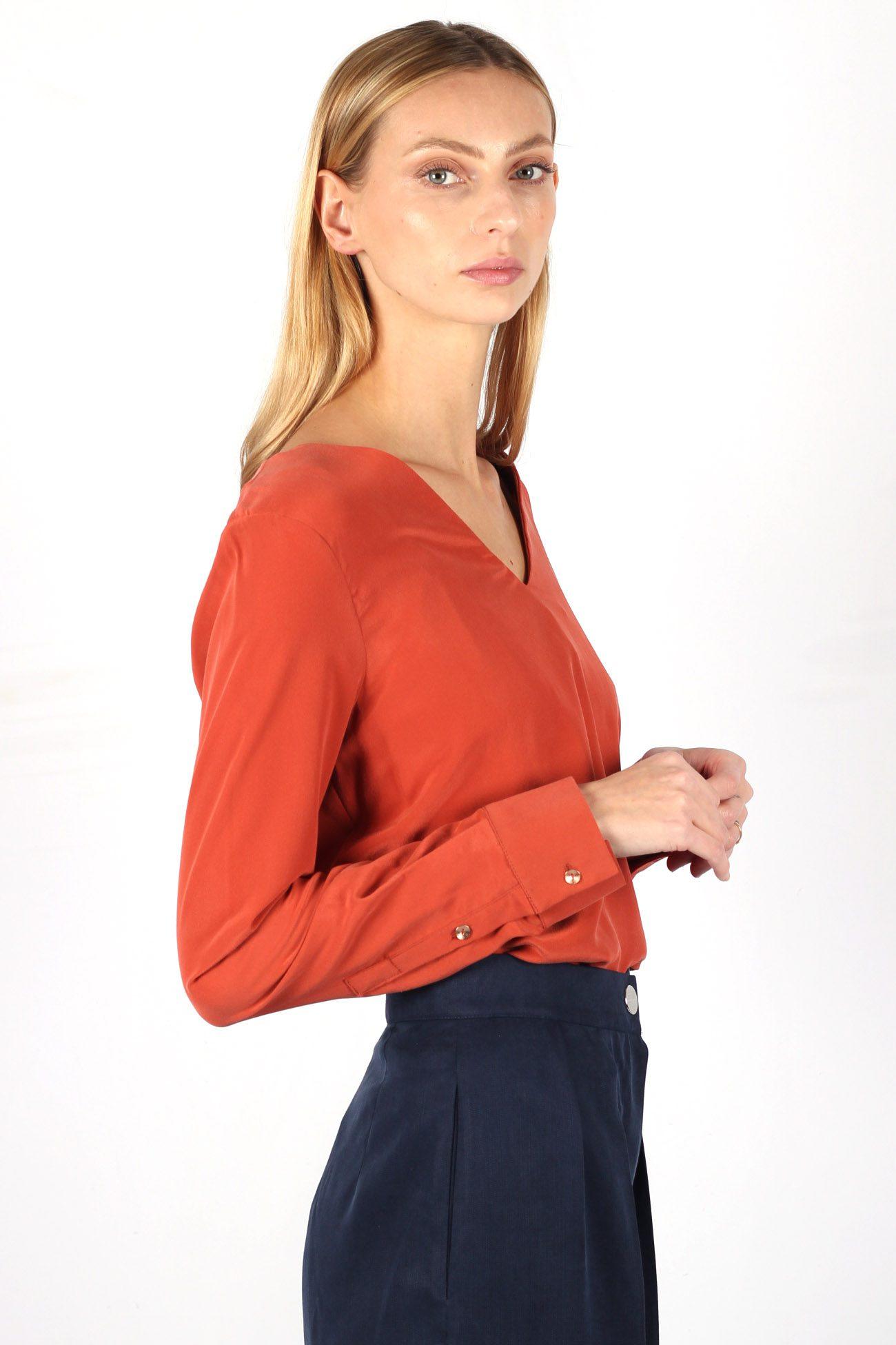 blouse soie terracotta 4